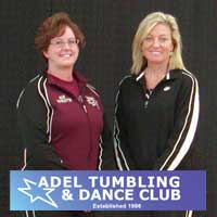 Sue Dunsmoor and Lori Rickert of Adel Tumbling & Dance Club