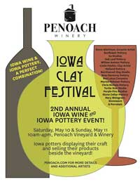 Iowa Clay Festival - Penoach WInery Adel Iowa