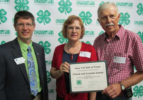 Chuck and Lorinda Inman Inducted into 4-H Hall of Fame